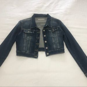 Dark blue jean jacket